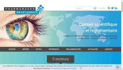 Site internet de Pharmanager