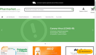 Site internet de Pharmarket