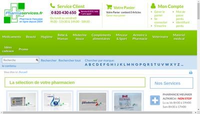 Site internet de Pharmacie Meunier