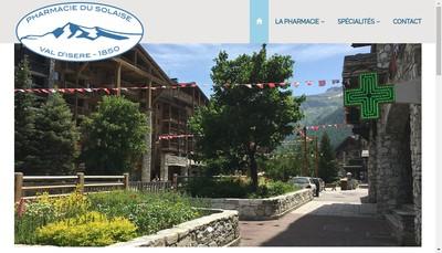 Site internet de Pharmacie du Solaise