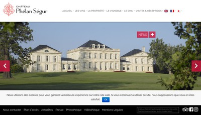 Site internet de SCEA Chateau Phelan Segur