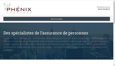 Site internet de Phenix Courtage