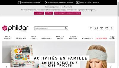Site internet de Phildar