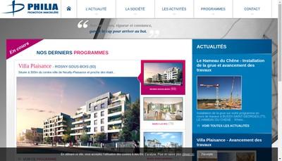Site internet de Philia Promotion Immobiliere