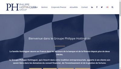Site internet de Philippe Hottinguer et Cie Gestion Groupe Philippe Hottinguer