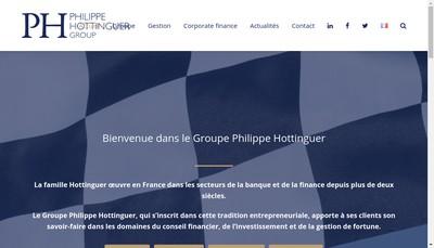 Site internet de Financiere H et Associes Groupe Philippe Hottinguer