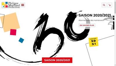 Site internet de Concerts Parisiens Grands Concerts Sacre