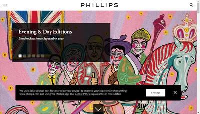 Site internet de Phillips Auctioneers