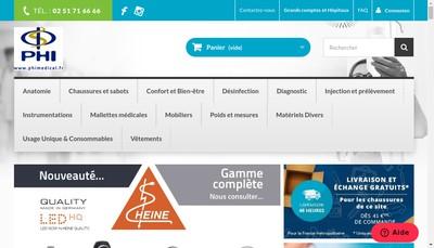 Site internet de Partenaire Hospitalier International