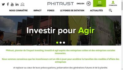 Site internet de Phitrust