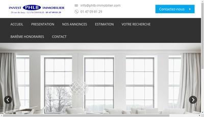 Site internet de Phlb Invest Immobilier