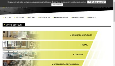 Site internet de PHM Immobilier