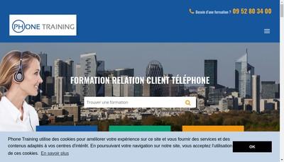 Site internet de Phone Training