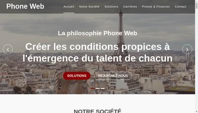 Site internet de Phone Web