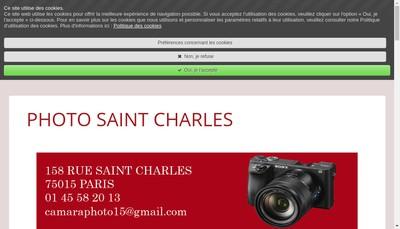 Site internet de Photo Saint Charles