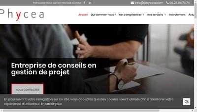 Site internet de Phycea
