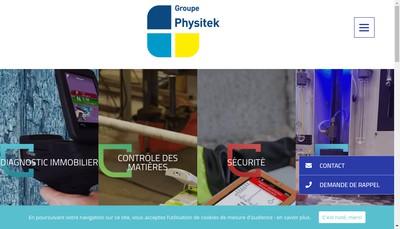 Site internet de Physitek Devices