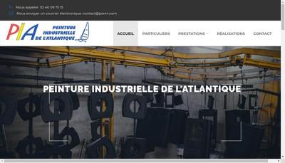 Site internet de Peinture Industrielle Atlantique