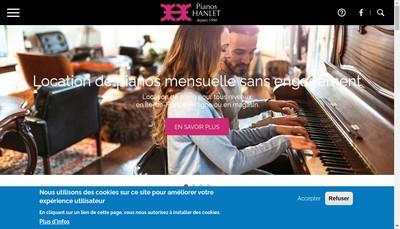 Site internet de Pianos Hanlet- Nova Sound