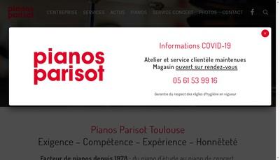 Site internet de Parisot-Pianos