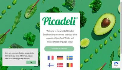 Site internet de Picadeli