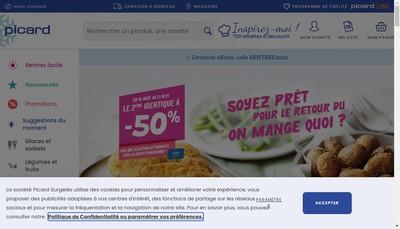 Site internet de Picard les Surgeles