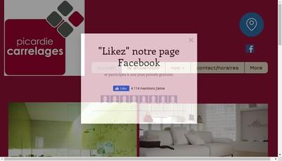 Site internet de Picardie Carrelages