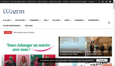 Site internet de Picardie la Gazette