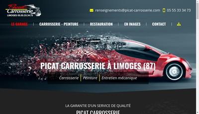 Site internet de Societe Picat Carrosserie