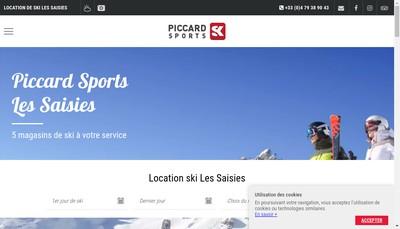 Site internet de Piccard Sports Skis Services