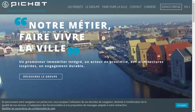 Site internet de Pichet Financiere