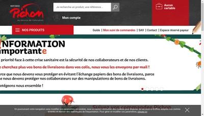 Site internet de Papeteries Pichon