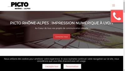 Site internet de Picto Rhone Alpes