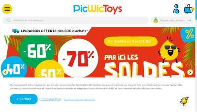 Site internet de Picwic