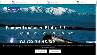 Site internet de Pompes Funebres Pideil