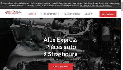 Site internet de Alex Express