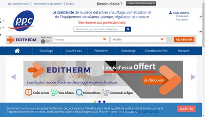 Site internet de Groupe Ppc