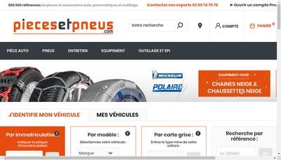 Site internet de Pieces&Pneus Com