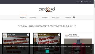 Site internet de Pied-O-Sol