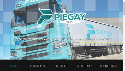 Site internet de Piegay Freres Transports