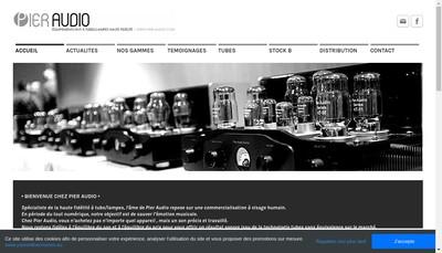 Site internet de Pier Audio