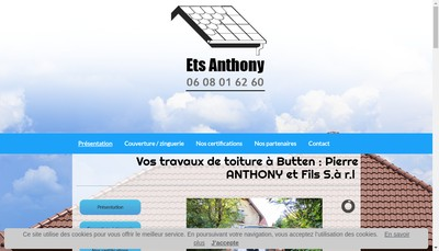 Site internet de Anthony Pierre et Fils