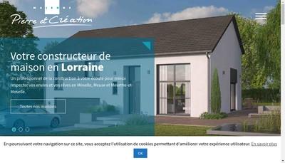 Site internet de Pierre & Creation