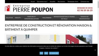 Site internet de Entreprise Pierre Poupon