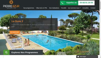 Site internet de Pierre Azur Immobilier