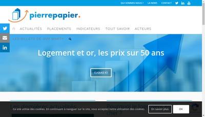 Site internet de Rajout Nom Cial www.pierrepapier.fr