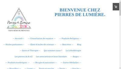 Site internet de Pierres de Lumiere