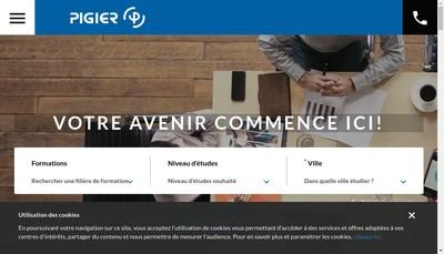 Site internet de Pigier