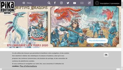 Site internet de Pika Edition