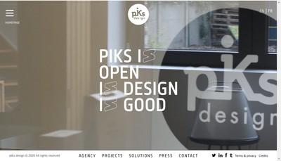 Site internet de Piks Design